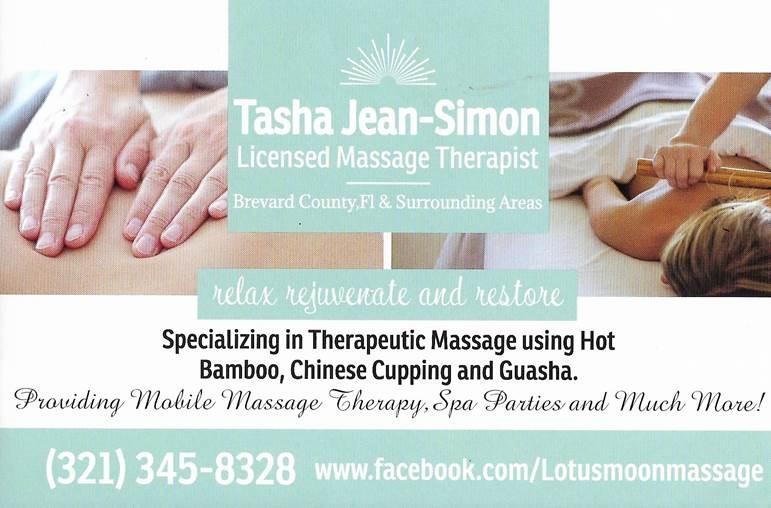 Tasha Jean-Simon, massage therapist